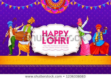 Happy Lohri holiday background for Punjabi festival Stock photo © vectomart