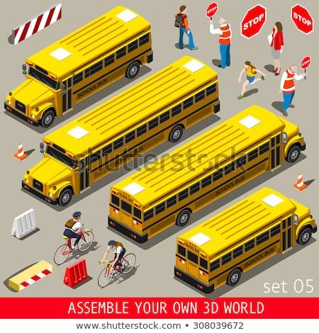 スクールバス ゲーム テンプレート 実例 学校 幸せ ストックフォト © colematt