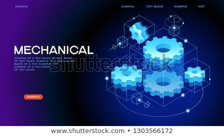 Engrenagem mecanismo isométrica ícone 3D isolado Foto stock © robuart