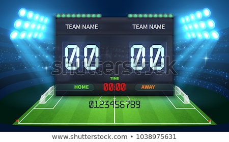 Scoreboard Stadium electronic sports display, Soccer Match time countdown. Vector Stock photo © Andrei_