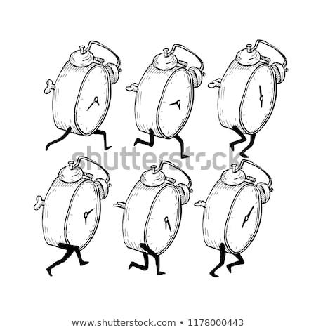 Despertador ejecutar ciclo dibujo boceto estilo Foto stock © patrimonio