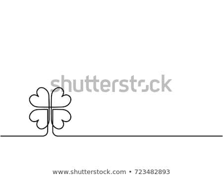 Saint trèfle feuille ligne art printemps Photo stock © ESSL