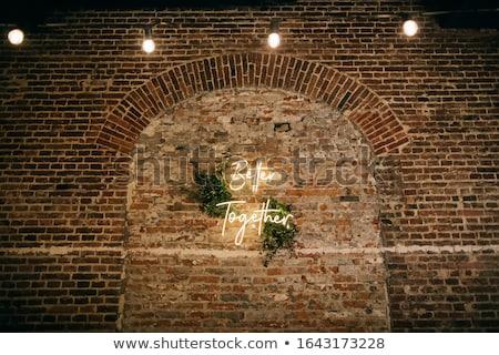 Kościoła neon religii promocji Wielkanoc ślub Zdjęcia stock © Anna_leni