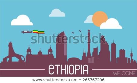 house with flag of ethiopia stock photo © mikhailmishchenko