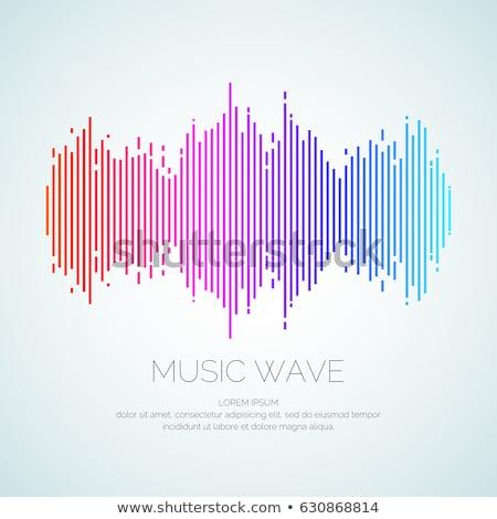 красочный · звук · волны · черный · набор · аудио - Сток-фото © marysan