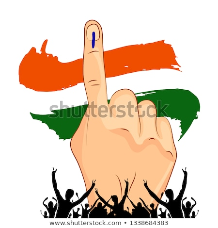 India votación mano tricolor bandera país Foto stock © SArts