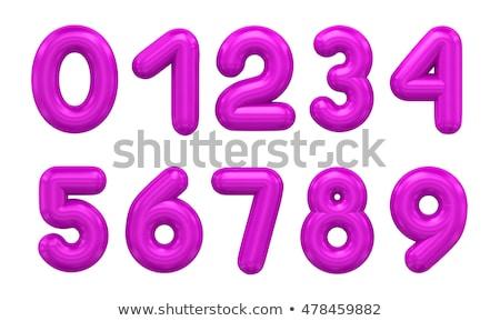 Ballon nummers nul negen paars illustratie Stockfoto © colematt