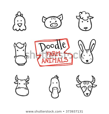 Doodle animal for hen Stock photo © colematt