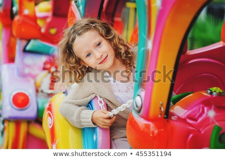 Children riding on train in the park Stock photo © colematt