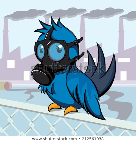 bird with a gas mask Stock photo © adrenalina