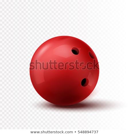Czerwony bowling ball pin biały Zdjęcia stock © magraphics