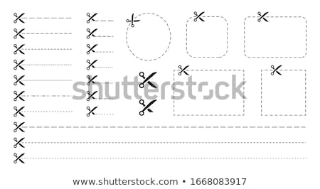 Icon schaar papier bon korting Stockfoto © ussr