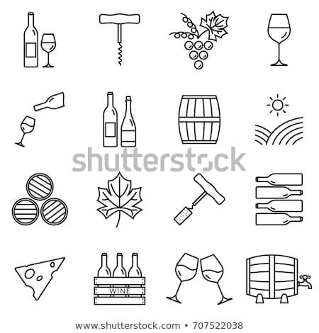 Corkscrew flat icon Stock photo © smoki