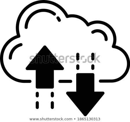 облаке хранения вектора икона изолированный белый Сток-фото © smoki