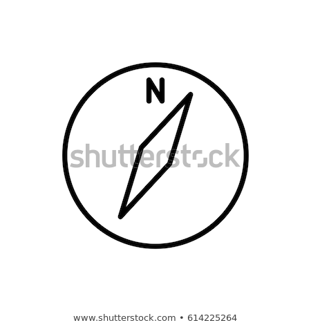kompas · icon · lineair · symbool · dun · schets - stockfoto © kyryloff
