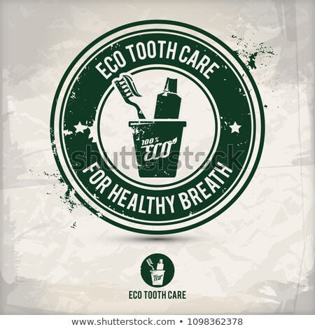alternative eco tooth care stamp Stock photo © szsz