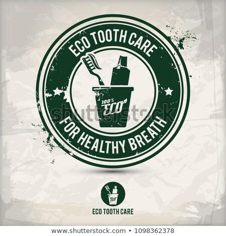 alternatief · eco · tand · zorg · stempel · milieuvriendelijk - stockfoto © szsz