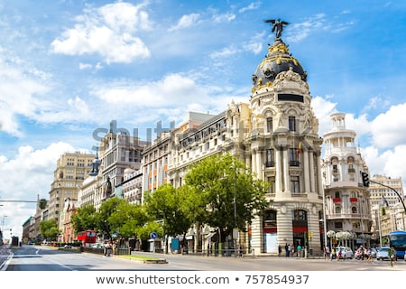 大都市 建物 マドリード オフィスビル スペイン コーナー ストックフォト © borisb17