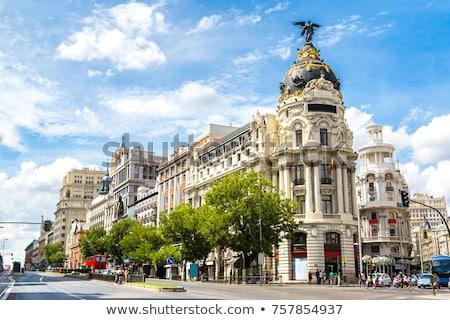 Metropol Bina Madrid ofis binası İspanya köşe Stok fotoğraf © borisb17