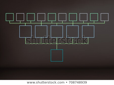 mind map over dark background Stock photo © wavebreak_media