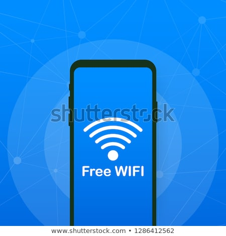 Mobile Phone Wifi Available stock photo © kbuntu