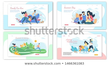 Mother and Baby Spending Time Together, Park Set Stock photo © robuart