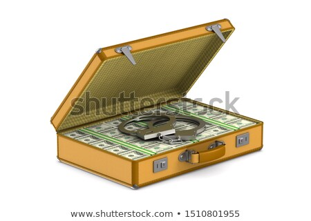 case with cash money and handcuffs on white background. Isolated Stock photo © ISerg