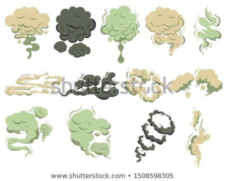 Bad smells, Steam smoke coming up. Stench vapor, stink aroma. Green toxic stink smell. Vector Stock photo © Andrei_