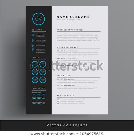 kişisel · vektör · şablon · örnek · soyut - stok fotoğraf © orson