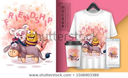 Panda friend- mockup for your idea Stock photo © rwgusev