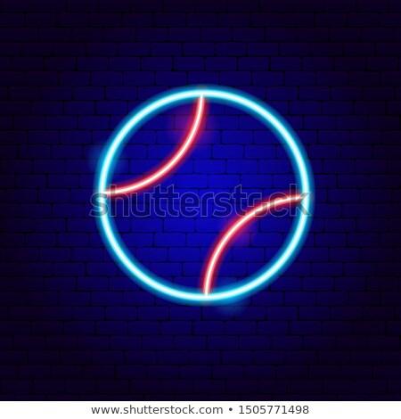 Beysbol neon spor tanıtım ev spor Stok fotoğraf © Anna_leni