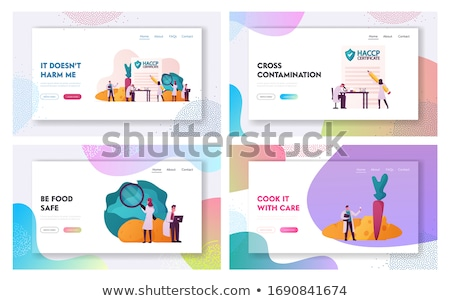 Standard for quality control landing page template Stock photo © RAStudio