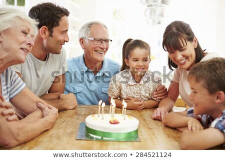 anniversaire · grand-père · grand · famille · célébrer · homme - photo stock © wavebreak_media