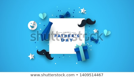 Día tarjeta papel bigote amor icono Foto stock © cienpies