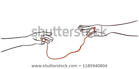 Hands Red String Fate Illustration Stock photo © lenm