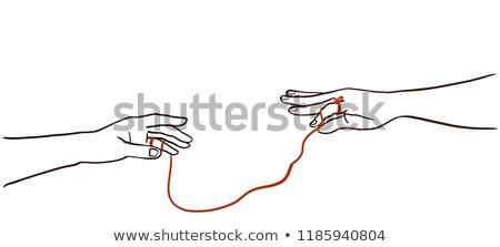 Ręce czerwony ciąg los ilustracja mały Zdjęcia stock © lenm