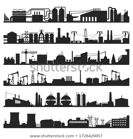 industry factory metallurgical icon vector illustration stock photo © pikepicture
