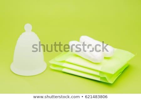 Différent féminin hygiène produits tasse sang Photo stock © galitskaya
