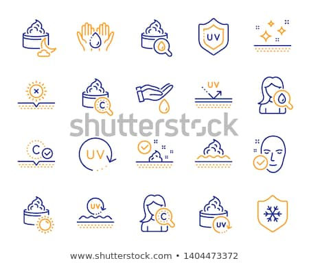 UV Protection Icon Vector Outline Illustration Stock photo © pikepicture