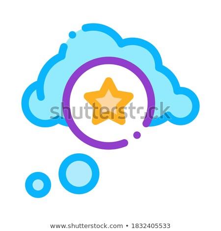 Star Bonus Cloud Icon Vector Outline Illustration Stock photo © pikepicture