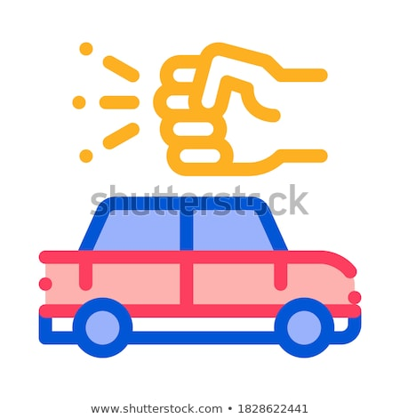 Kick Push Machine Icon Vector Outline Illustration Stock photo © pikepicture