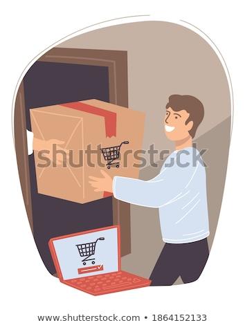 Człowiek produktów kupiony sprzedaży sklepu Zdjęcia stock © robuart