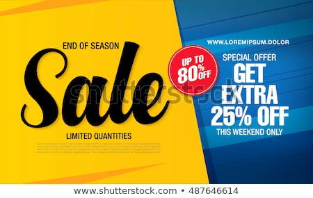 abstract special offer sale banner design template Stock photo © SArts