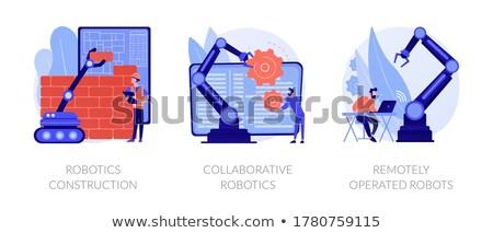 Modern robotic systems vector concept metaphors Stock photo © RAStudio