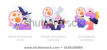 Coronavirus epidemy outbreak abstract concept vector illustratio Stock photo © RAStudio