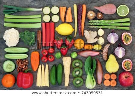 Vegan sağlık gıda seçim etik yeme Stok fotoğraf © marilyna