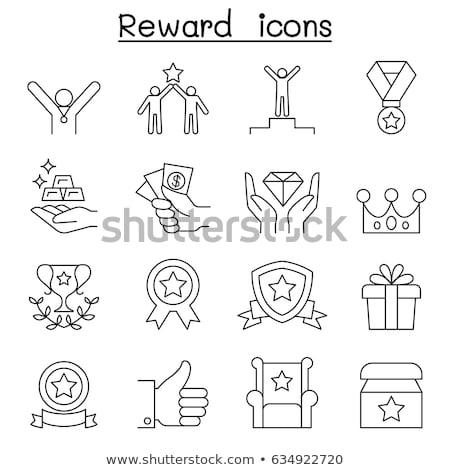 Bonus star logo icona vettore contorno Foto d'archivio © pikepicture