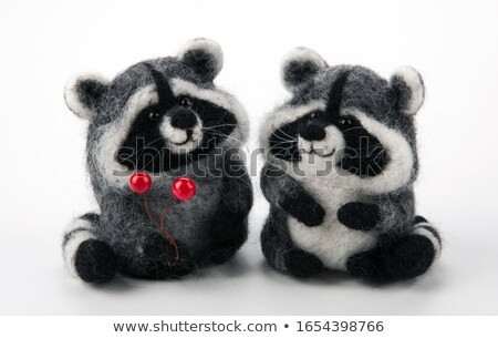 two handmade artificial raccoons toy Stock photo © mizar_21984