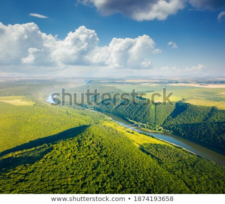 Attractive top view of the Dniester river valley.  Stock photo © Leonidtit