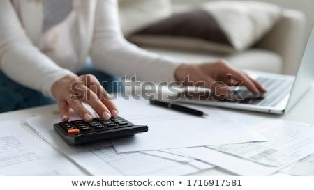 Boekhouder facturen belasting bureau man muis Stockfoto © AndreyPopov